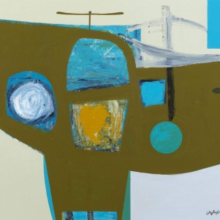 'Flying Machine' by contemporary Scottish artist Simon Laurie