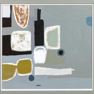 'Bottle and Objects' by contemporary Scottish artist Simon Laurie