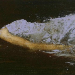 'Amy Reclined II' by contemporary British artist Mark Demsteader