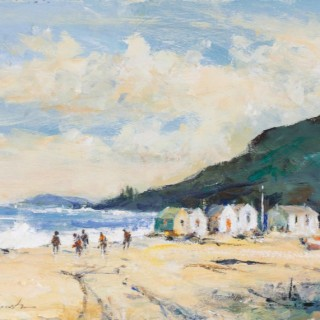 'Beachcombers' by contemporary British artist Ian Houston