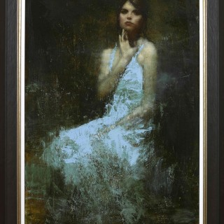 'Study for Hannah' by contemporary British artist Mark Demsteader