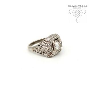 Diamond Platinum Bombe Ring