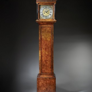 A Fine 18th-century Queen Anne Burr Walnut Eight-Day Longcase Clockby Christopher Gould