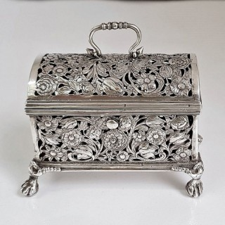 Antique Dutch Silver Marriage Box