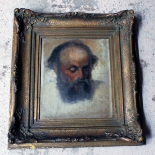 A Mid-19thC Oil on Canvas Portrait of a Bearded Gentleman c.1840-60