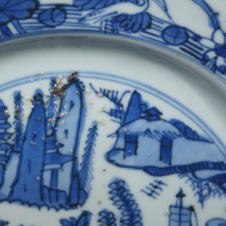 Chinese Ming Blue and White Kraak Plate