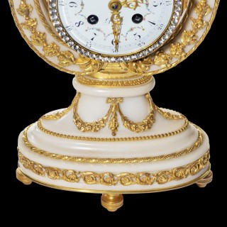 A French Lyre Mantle Clock in the Louis XVI Manner