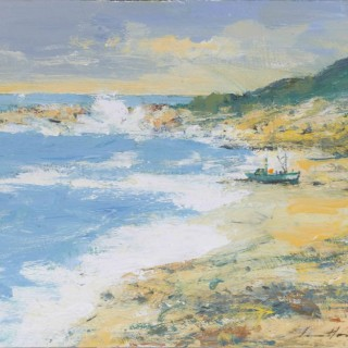 'Wind and Sunlight on a Lonely Beach' by British artist Ian Houston