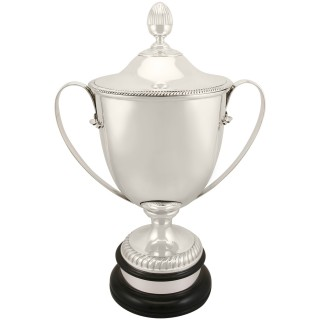 Sterling Silver Presentation Cup and Cover - Antique Edwardian (1909)