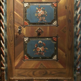 C19th Painted Armoire