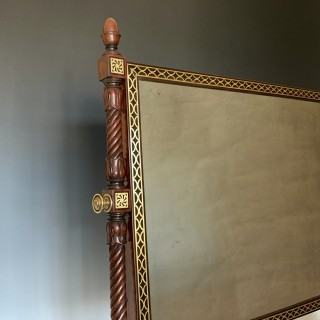 Antique George IV Brass Inlaid Dressing Table Mirror