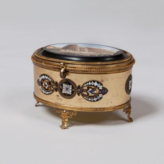 A Precious Box with a Micromosaic Lid