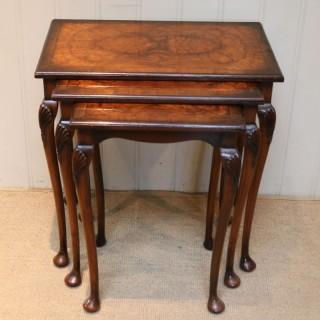 1930s Walnut Nest Of Tables