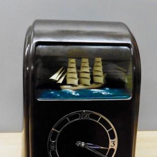 Art Deco Brown Vitascope Elecrtric Clock
