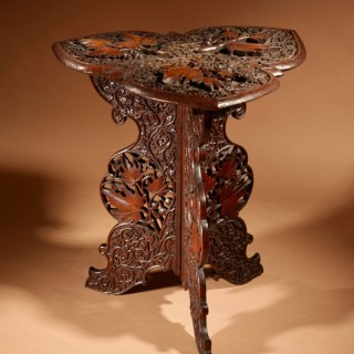 A very Fine Carved Hardwood Site / Coffee Table India circa 1900/20