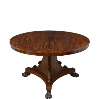 William IV Dining Table Centre Table In Rosewood