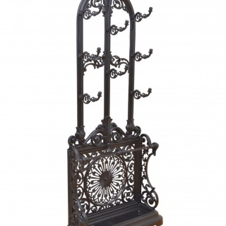 Victorian Cast Iron Hall Stand