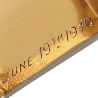 9ct Yellow Gold Napkin Rings - Vintage George VI (1940)