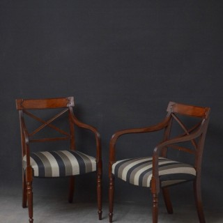 Pair of Georgian Carver Chairs in Mahogany