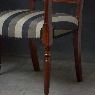 Pair of Georgian Carver Chairs in Mahogany