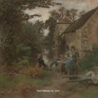 Leon-Augustin Lhermitte - Laveuses de la Ferme