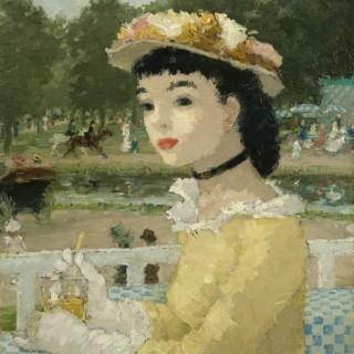 Dietz Edzard - Femme sur une Terrasse