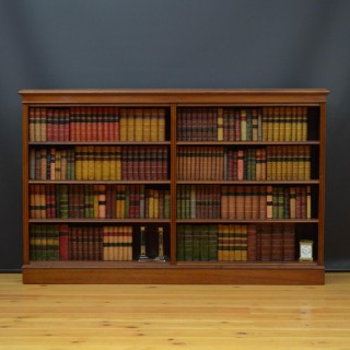 Late Victorian Open Bookcase in Walnut