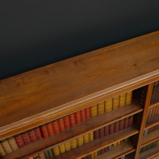 Late Victorian Open Bookcase in Walnut