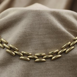 A very fine Link Necklace in 14ct Yellow Gold, Circa 1950