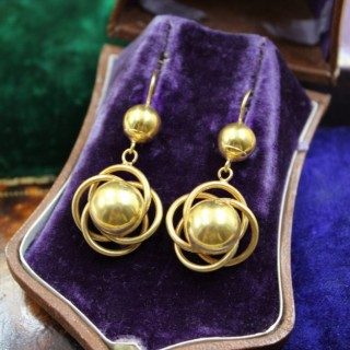 A very fine pair of Celestial Earrings in High Carat Yellow Gold, English, Circa 1880 - 1910