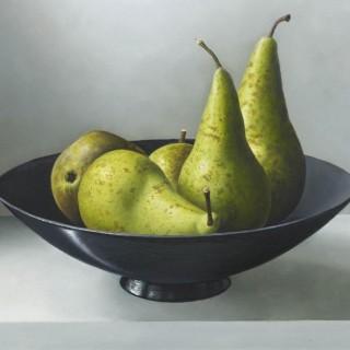 'Conference Pears' by contemporary Dutch artist Johan de Fre