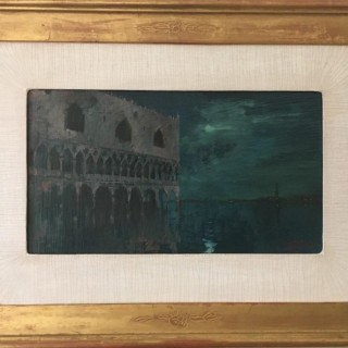 'Moonlight After Rain, St. Marks' by British artist Michael Hyam