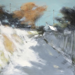 'Winter Village, Dartmoor' by contemporary Cornnish artist Hannah Woodman