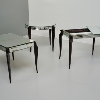 Selection of Three Mirrored top Coffee Tables