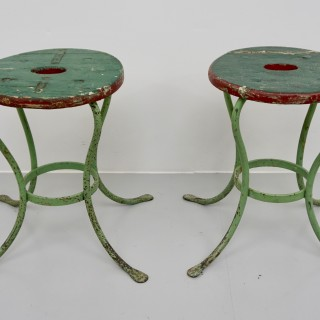 Pair of Green Stools