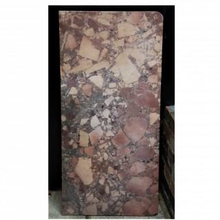 A 19th century Italian Breccia table marble top