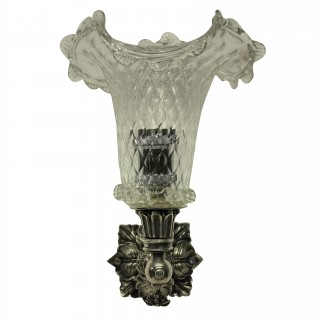 A PAIR OF ENGLISH XIX CENTURY WALL SCONCES
