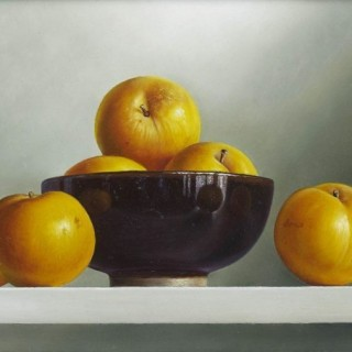 'Yellow Plums' by contemporary Dutch artist Johan de Fre