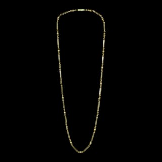 Wonderful Antique Georgian Gold Long Chain With Turquoise Clasp circa 1830