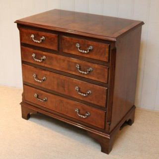 Small Proportioned Walnut Chest Of Drawers