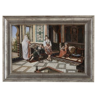 Orientalist porcelain plaque in the manner of KPM