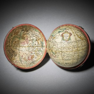 Fine 18th Century English Celestial Pocket Globe by Nathaniel Hill, London, 1754