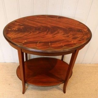 Edwardian Inlaid Mahogany Oval Table