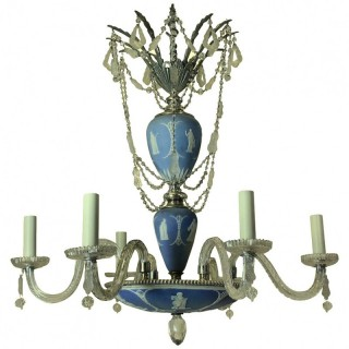 AN ENGLISH WEDGWOOD CHANDELIER