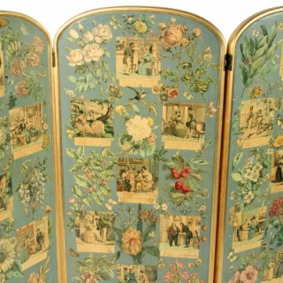 19th Century French Four Fold Screen