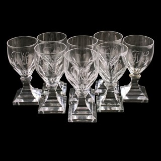 Set of 8 Square Base Port Glasses
