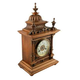 19th Century Walnut Mantel Clock