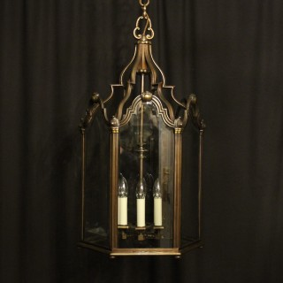 French Bronze Six Light Antique Hall Lantern