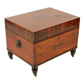 Regency Mahogany Cellaret Box