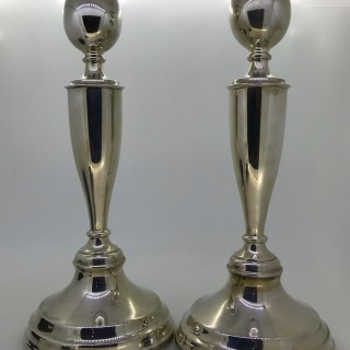 Tall Silver Candlesticks